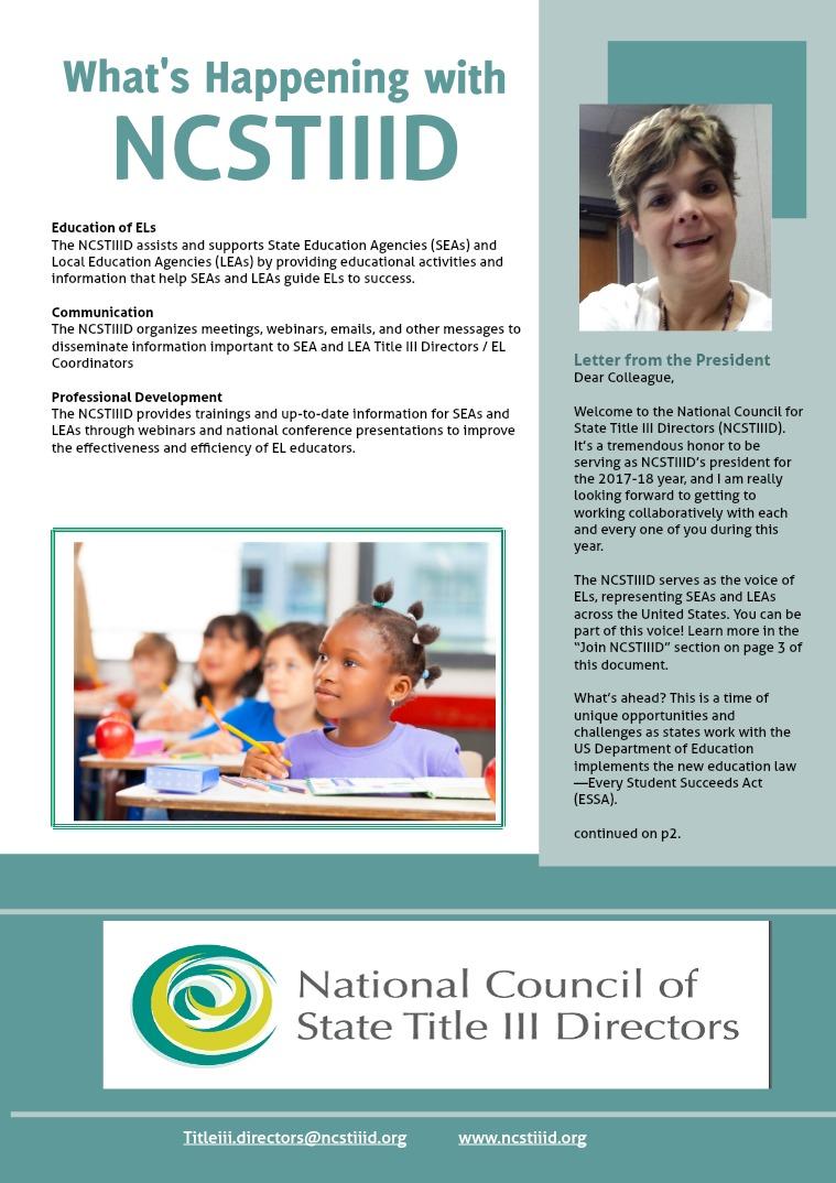 NCSTIIID Newsletter Vol. 1