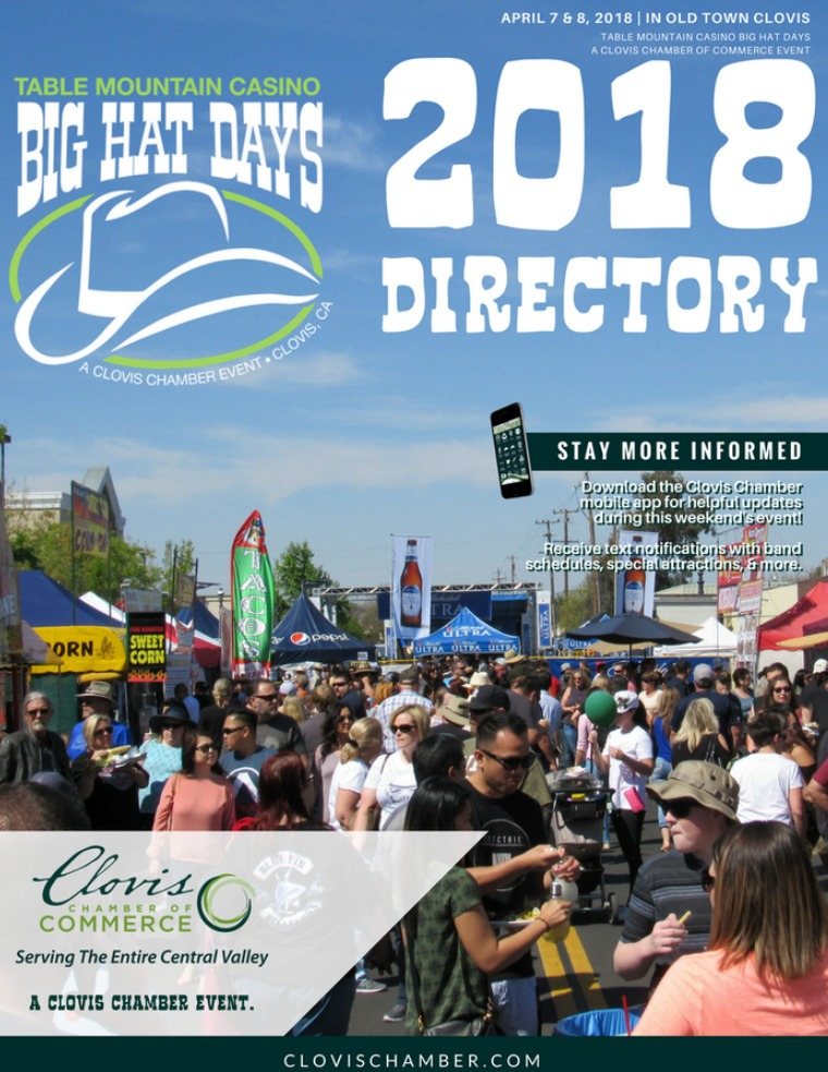 Special Events Directories 2018 BIG Hat Days Directory