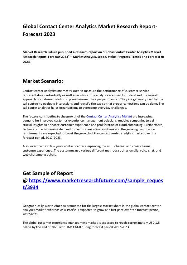 Contact Center Analytics Market 3