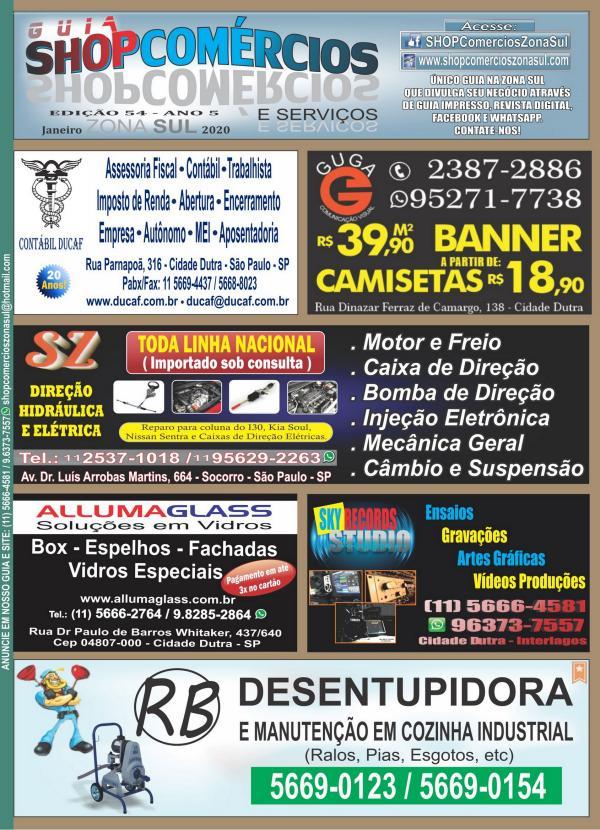 GUIA SHOPCOMÉRCIOS ZONA SUL #54 JAN/20 GUIA SHOPCOMÉRCIOS ZONA SUL  #54 JAN/20