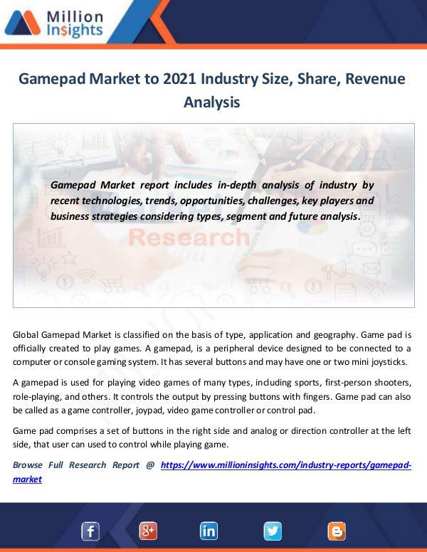 Gamepad Market