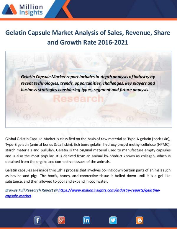 Gelatin Capsule Market