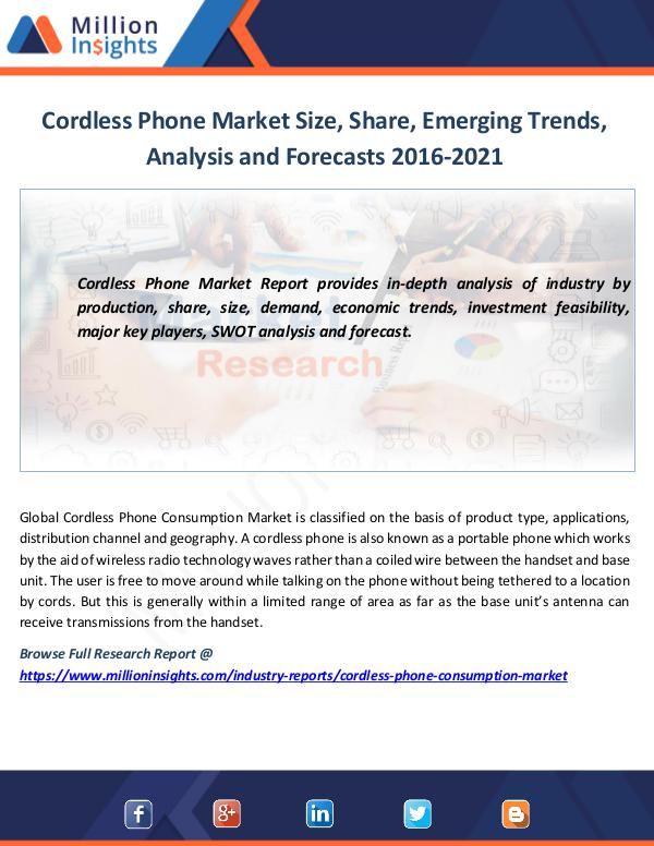 Market News Today Cordless Phone Market Size