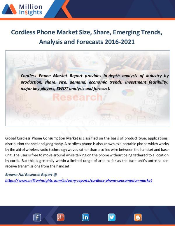 Cordless Phone Market Size