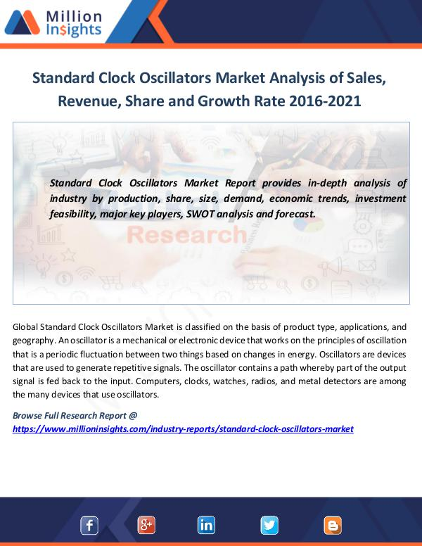 Market News Today Standard Clock Oscillators Market