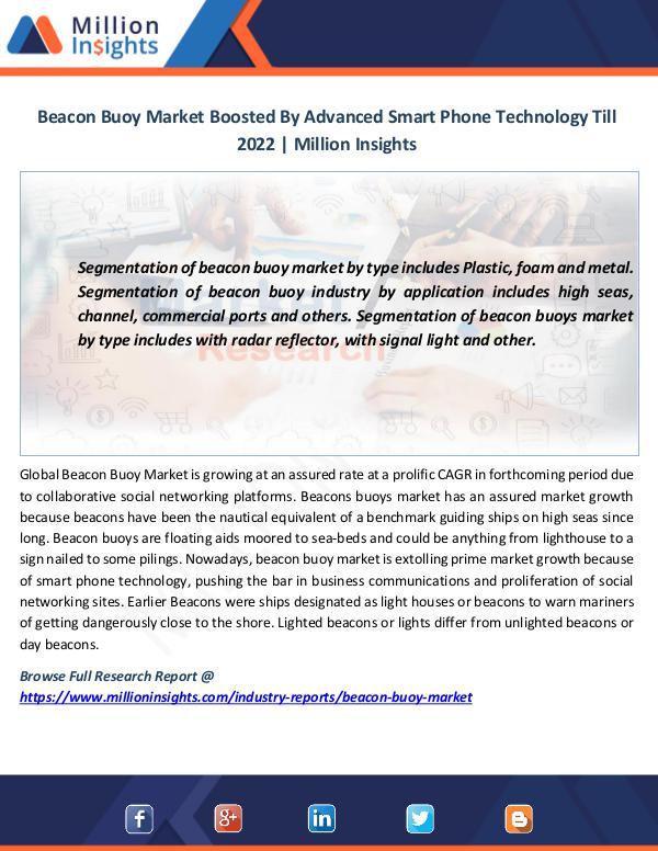 Market News Today Beacon Buoy Market