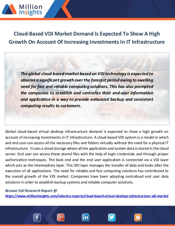 Cloud-Based VDI Market