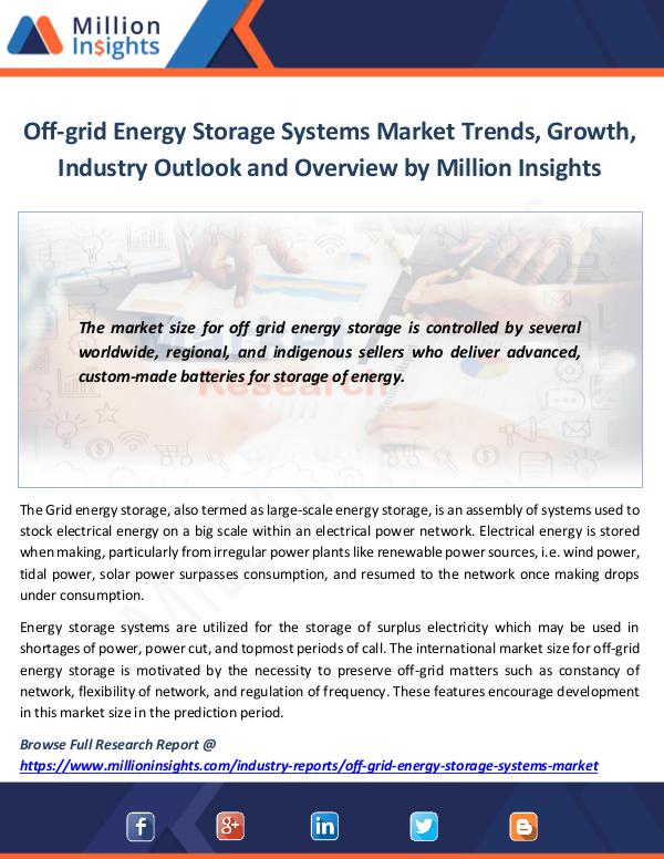 Off-grid Energy Storage Systems Market