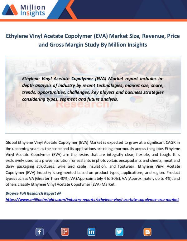 Ethylene Vinyl Acetate Copolymer (EVA) Market Size