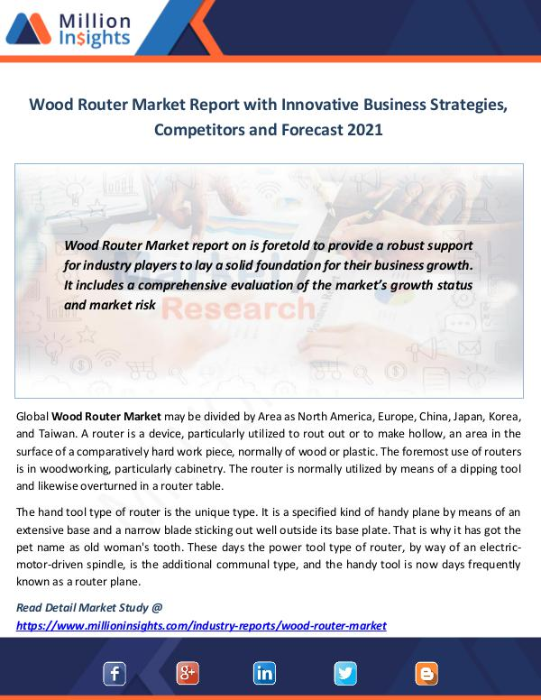 Wood Router Market