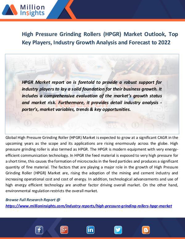 High Pressure Grinding Rollers (HPGR) Market