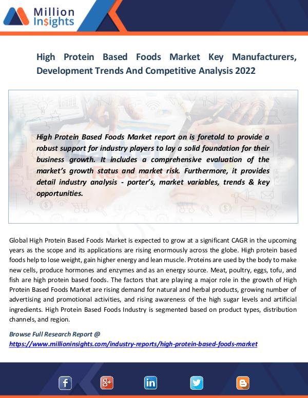 Market News Today High Protein Based Foods Market