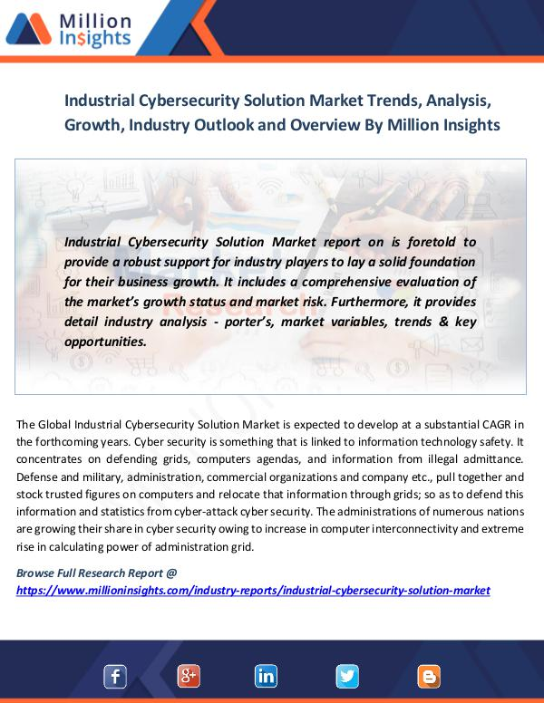 Market News Today Industrial Cybersecurity Solution Market