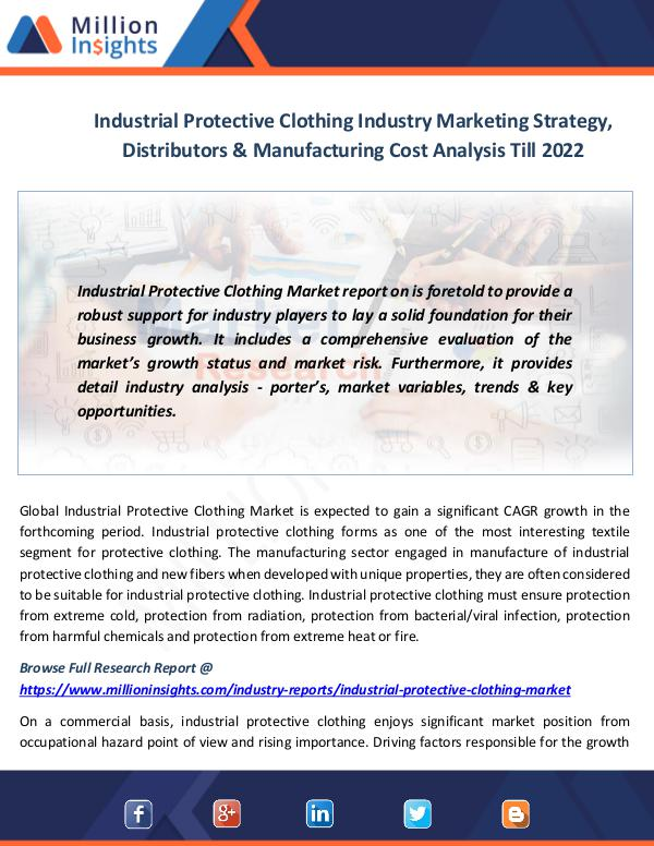 Market News Today Industrial Protective Clothing Market