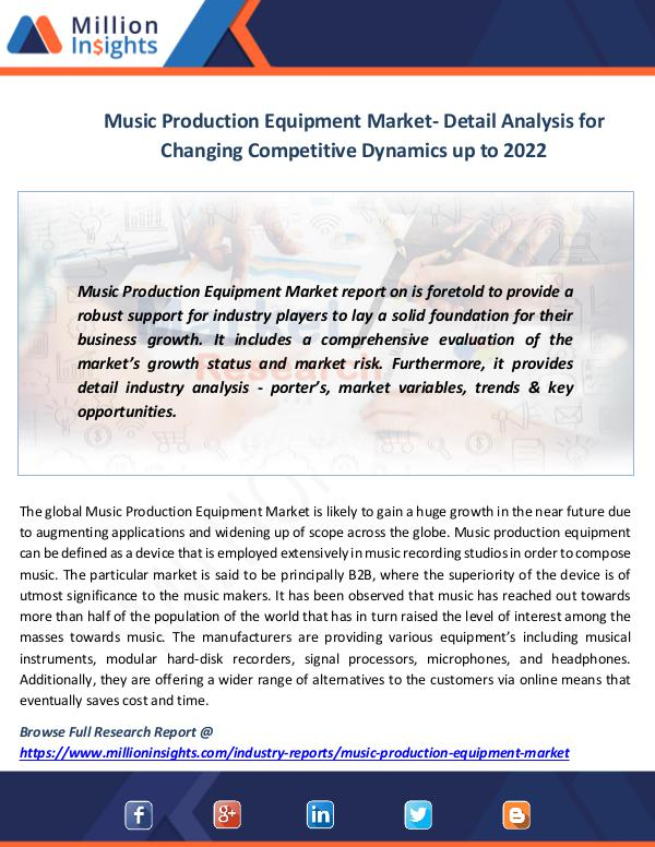 Market News Today Music Production Equipment Market