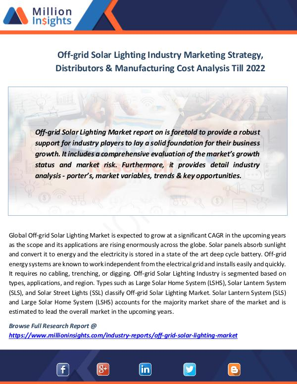 Off-grid Solar Lighting Industry