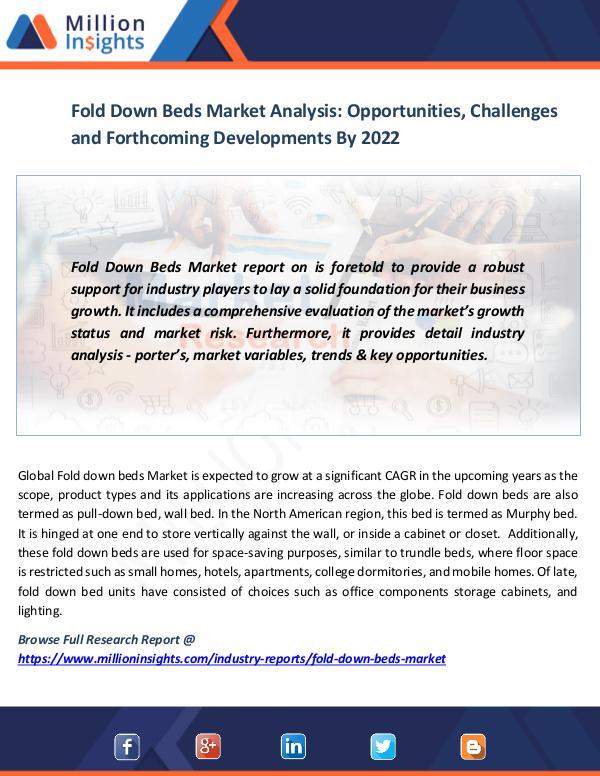 Fold Down Beds Market
