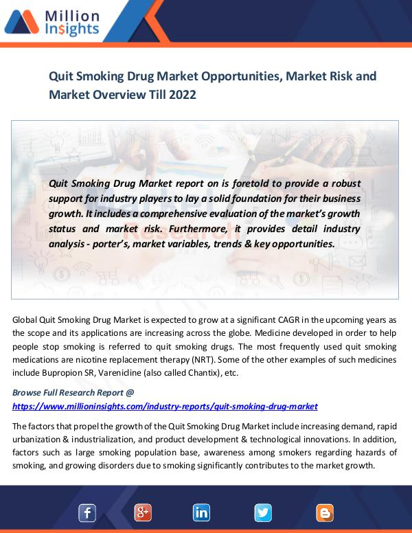 Quit Smoking Drug Market