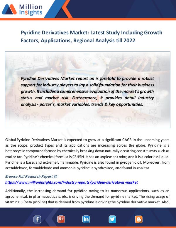 Pyridine Derivatives Market