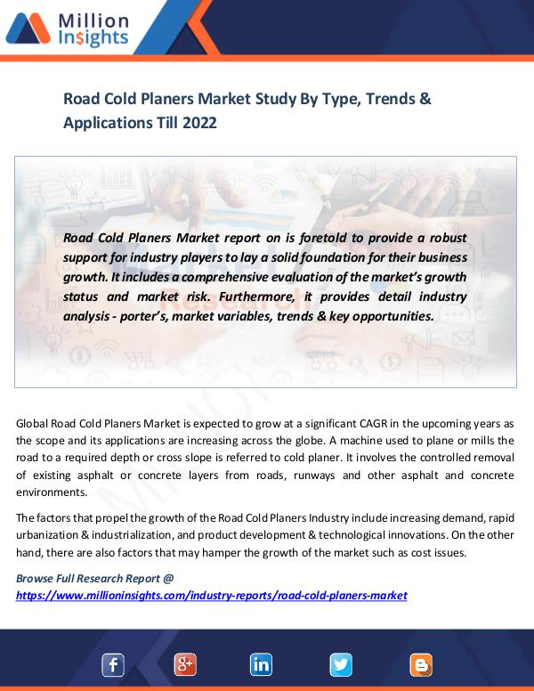 Market News Today Road Cold Planers Market