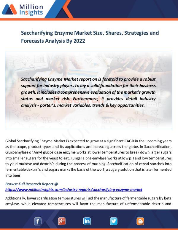 Saccharifying Enzyme Market