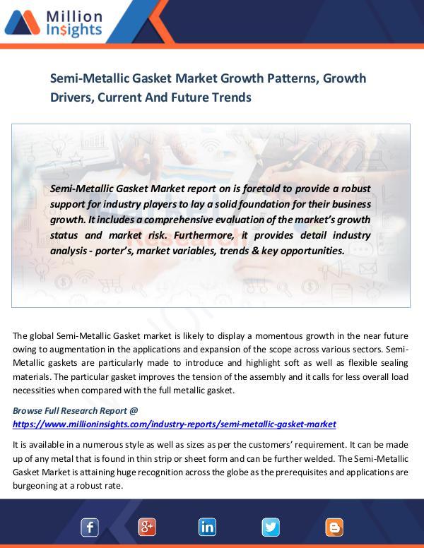 Market News Today Semi-Metallic Gasket Market