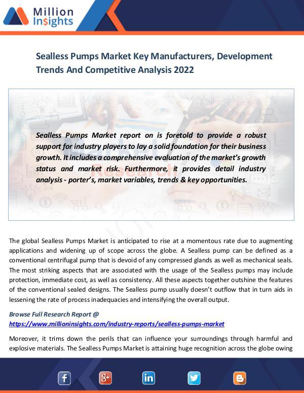 Sealless Pumps Market