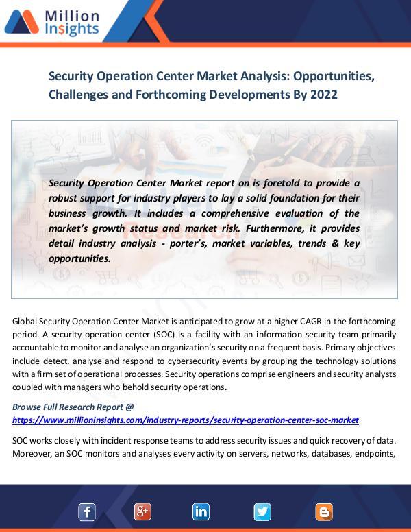Security Operation Center Market