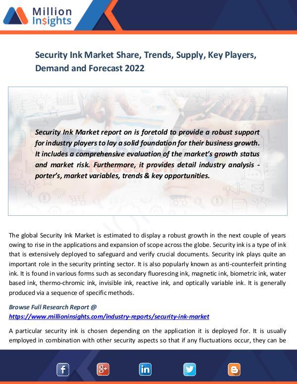 Security Ink Market