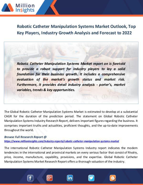Robotic Catheter Manipulation Systems Market