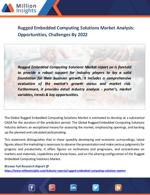 Rugged Embedded Computing Solutions Market