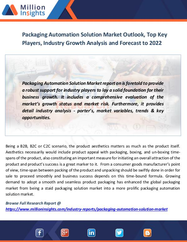 Packaging Automation Solution Market