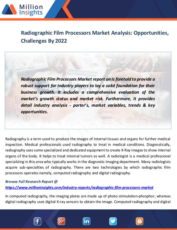 Radiographic Film Processors Market