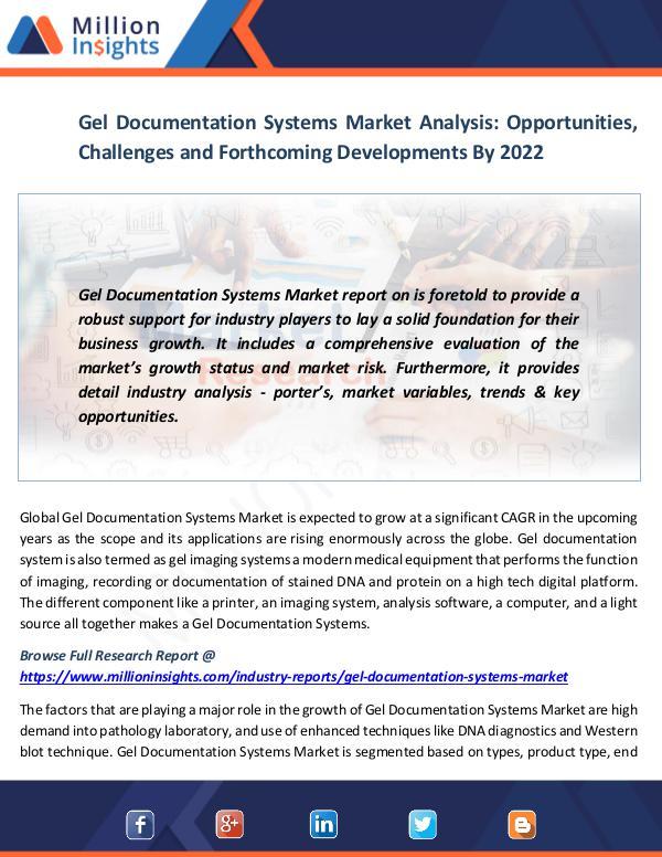 Gel Documentation Systems Market