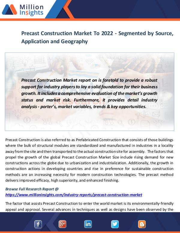 Market News Today Precast Construction Market