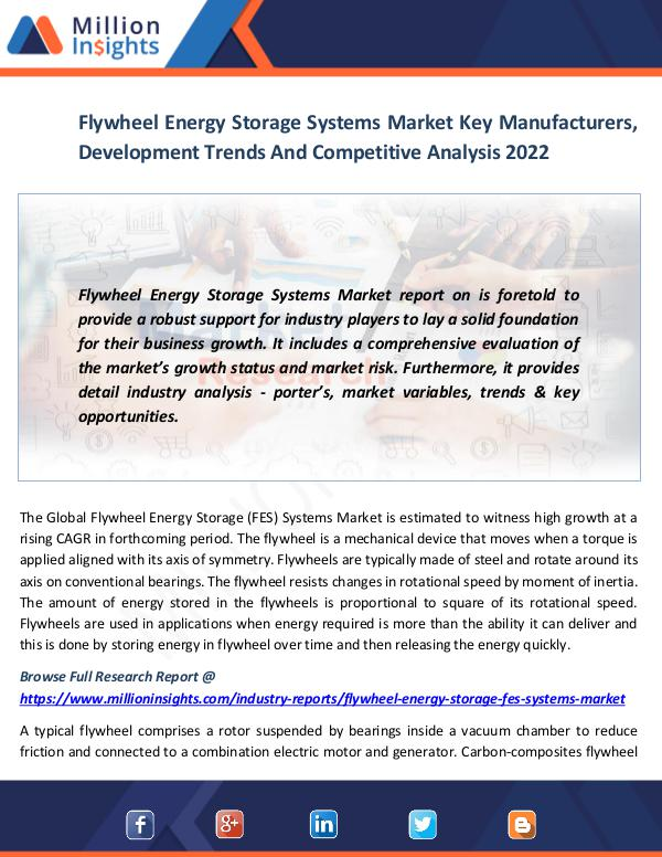 Market News Today Flywheel Energy Storage Systems Market