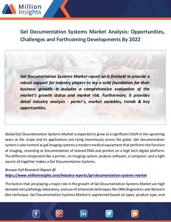 Gel Documentation Systems Market