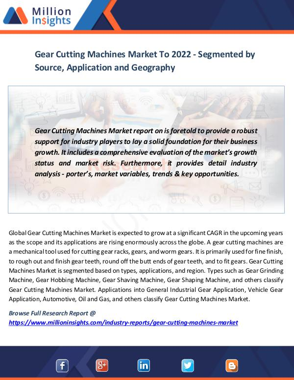 Gear Cutting Machines Market