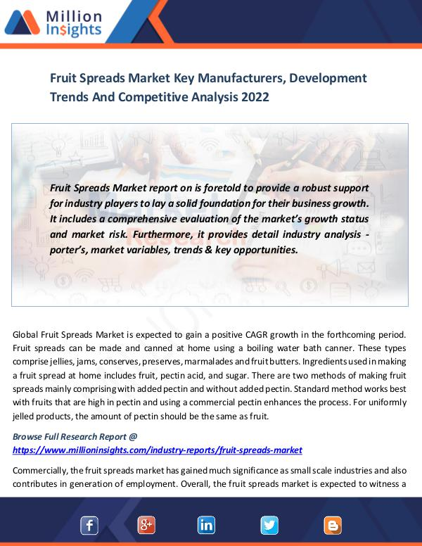 Fruit Spreads Market