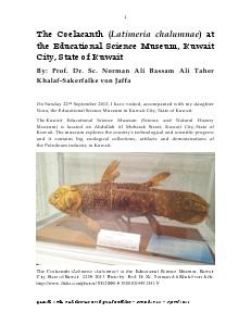 Gazelle : The Palestinian Biological Bulletin (ISSN 0178 – 6288) . Number 112, April 2014, pp. 1-10.