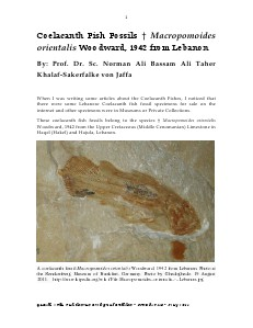 Gazelle : The Palestinian Biological Bulletin (ISSN 0178 – 6288) . Number 113, May 2014, pp. 1-26.
