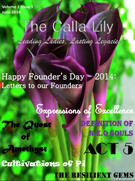 The Calla Lily: An Alpha Pi Delta Sorority, Inc Publication Volume 2 Issue 1