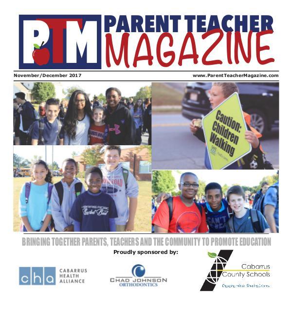 Parent Teacher Magazine Cabarrus County Schools Nov/Dec 2017