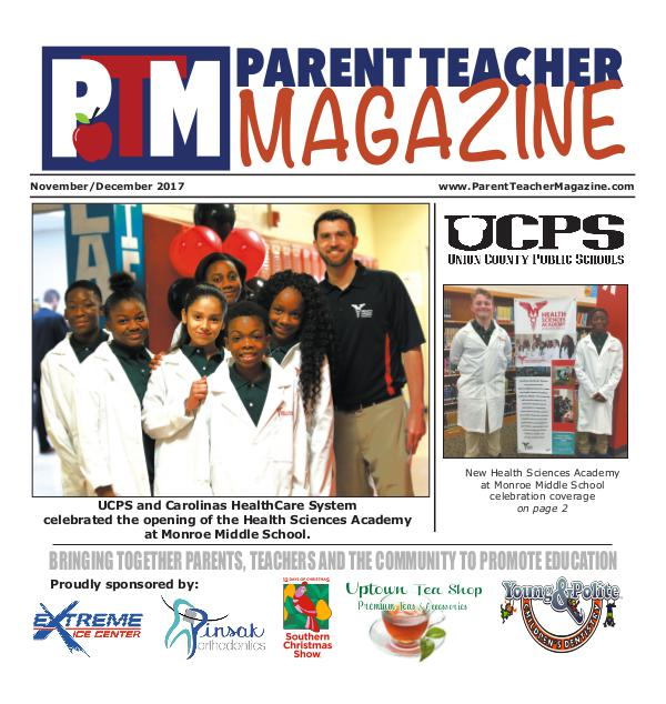 Parent Teacher Magazine Union County Public Schools Nov/Dec 2017