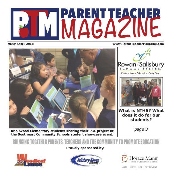 Parent Teacher Magazine Rowan-Salisbury Schools March/April 2018
