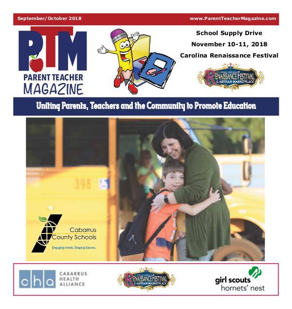 Parent Teacher Magazine Cabarrus County Schools Sept/Oct 2018