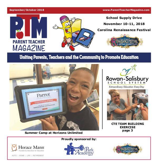 Parent Teacher Magazine Rowan-Salibsury Schools Sept/Oct 2018