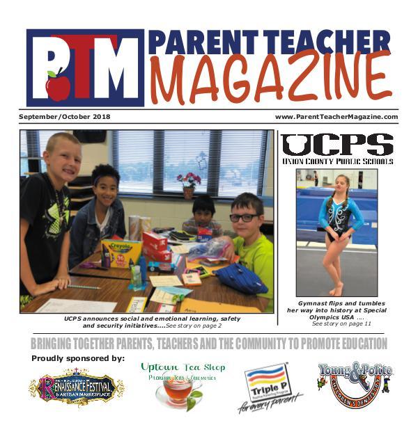 Parent Teacher Magazine Union County Public Schools Sept/Oct 2018