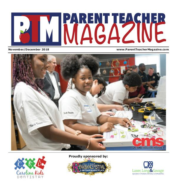 Parent Teacher Magazine Charlotte-Mecklenburg Schools Nov/Dec 2018