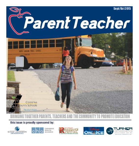 Parent Teacher Magazine Cabarrus County School Sept/Oct 2015